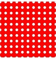 White dots on red background seamless pattern vector image vector image