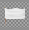 white flag isolated on transparent background vector image vector image