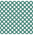white polka dots on green seamless background vector image vector image