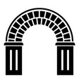 window arch icon simple style vector image vector image