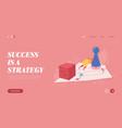winning female for web design banner vector image vector image