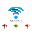 wireless logo template vcetor vector image