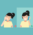 wrong and correct positions vector image vector image