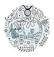 zodiac signes taurus vector image vector image