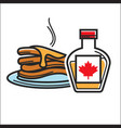 canadian pancakes in maple syrup isolated vector image
