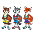 Basketball mascots vector image