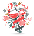Celebrative leisure backdrop with musical notes vector image