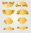 Circle gold banners vector image
