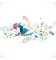 abstract creative geometrical architect and city vector image