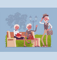 active seniors in park vector image