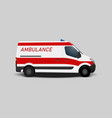 ambulance car transportation aid vector image