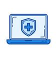 antivirus line icon vector image vector image