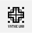 art deco logo vector image vector image