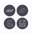 ATM cash money and bill icons vector image