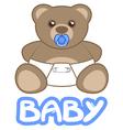 Baby teddy vector image vector image