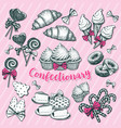 bakery and pastryconfectionery for winter holiday vector image