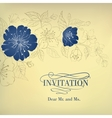 Blue sakura flowers on a vintage background vector image vector image