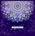 bohemian indian mandala print vintage henna vector image vector image