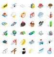 calendar icons set isometric style vector image vector image