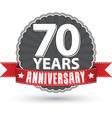 celebrating 70 years anniversary retro label