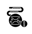 cholesterol black glyph icon vector image