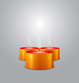 Christmas candles extinguished vector image vector image