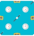 clock watches seamless pattern vector image vector image