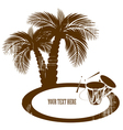 coconut palm trees vector image vector image