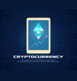 collection background cryptocurrency style design vector image vector image