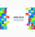 colorful jigsaw puzzle blank simple background vector image vector image