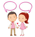 couple with speech balloon vector image vector image