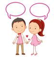 couple with speech balloon vector image vector image