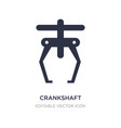 crankshaft icon on white background simple vector image vector image