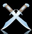 daggers vector image vector image
