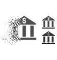 dissipated pixelated halftone bank building icon vector image vector image