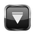 down button black glass 3d icon vector image vector image