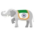 Elephant india flag vector image vector image