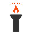 fire torch light flat icon vector image