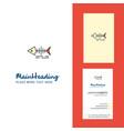 fish skull creative logo and business card vector image