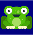 frog in cartoon flat style vector image vector image