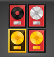 golden platinum hit collection disc vector image