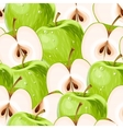 Green apples and apple slices seamless vector image vector image
