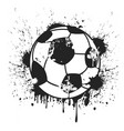 grungy black soccer ball background vector image vector image