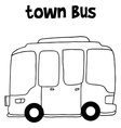 Hand draw of town bus vector image vector image