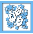 Happy Hanukkah greeting cards design vector image vector image