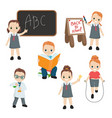 happy school kids happy school kids vector image vector image