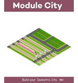 isometric rail transport vector image vector image