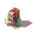 isometric wine shop vector image