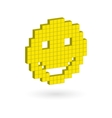 Isometric yellow laughing happy smiley face vector image
