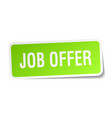 job offer square sticker on white vector image vector image